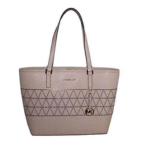 ef70ea0d35c878 Michael Kors Jet Set Travel TOTE Leather Women Handbag Carry All ...
