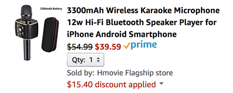 Best Coupon of Wireless Karaoke Microphone Speaker - NeuWish